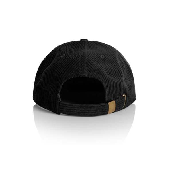 Back view of black cord cap