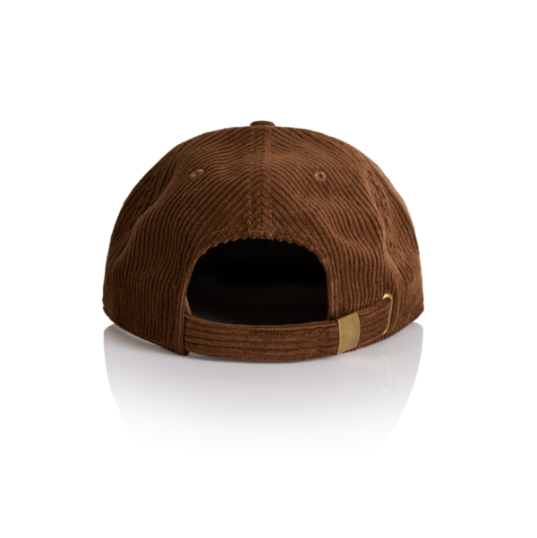 Back view of brown cord cap