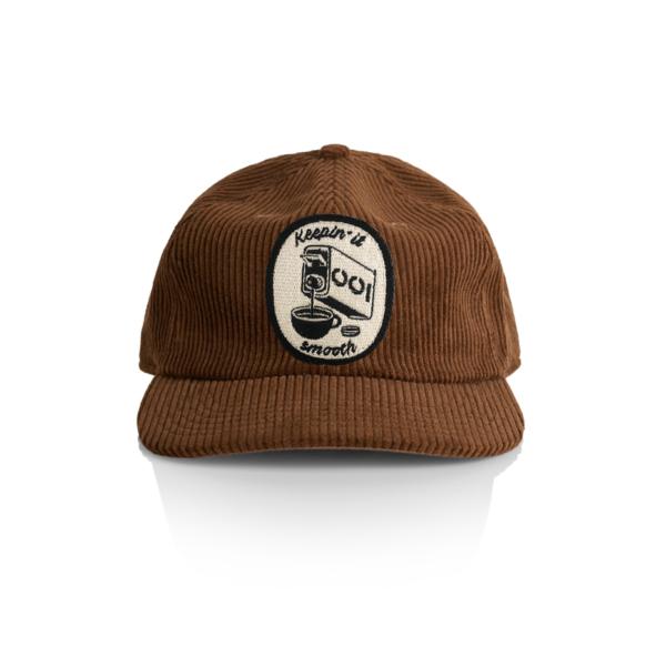 Brown cord cap